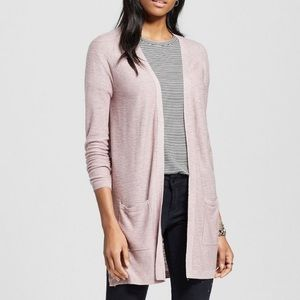 Mossimo Blush Pink Open Pocket Cardigan